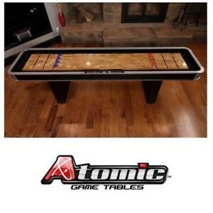 NEW*ATOMIC PLATINUM 9' SHUFFLEBOARD M01702AW 198531535 POLY COATED SURFACE TOP ABACUS SCORING SHUFFLEBOARDS GAME GAME...