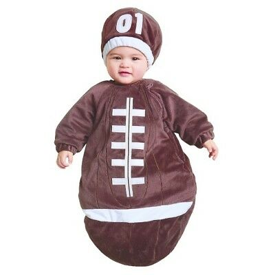 0-6 months infant newborn FOOTBALL BUNTING sports baby Super Bowl costume NWT