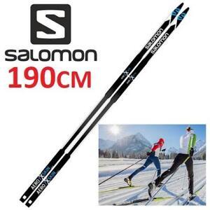 NEW SALOMON CROSS COUNTRY SKIS L406022PM190 222166265 MEN'S 190CM WAXLESS AERO 7X SKIN