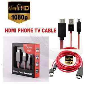 SAMSUNG S2 S3 S4 S5 GALAXY MIRROR LINK HDMI HD CABLE NEW PROMO