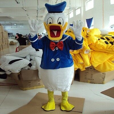 Adult Donald Duck Mascot Costume Cartoon Character Christmas Party Fancy Dress (Donald Duck Adult Costume)