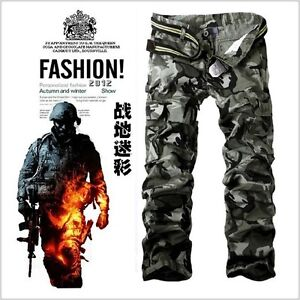 2-Color-Multi-pocket-Military-Cargo-Pants-Casual-Mens-Camouflage-Combat-Pants