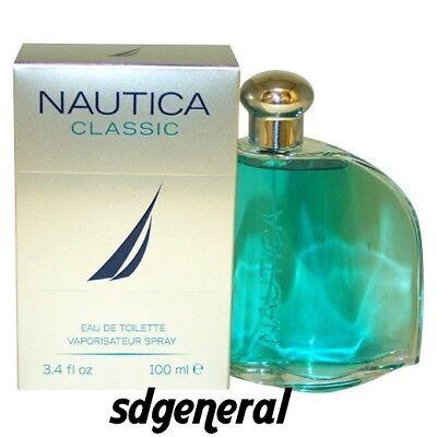 NAUTICA CLASSIC 3.3 oz / 3.4 oz / 100 ml  Cologne for Men New in Box