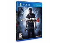 Uncharted 4 for sale ps4