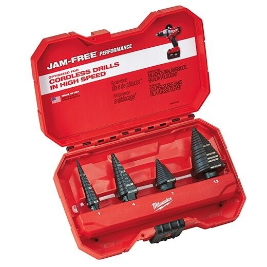 Milwaukee 48-89-9223 Step Drill Bit Set (4 PC) IN STOCK