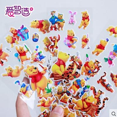 5Pcs Popular Winnie The Pooh Stereoscopic 3D Bubble Stickers Lot Toys Kids Gift