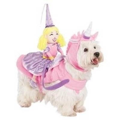 NWT Dog Cat Rider Costume - Princess on Unicorn L/XL Extra Large Halloween - Unicorn Rider Costume
