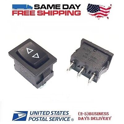 2 X Momentary Spdt Single Pole Double Throw 3-pin On-off-on Rocker Switches