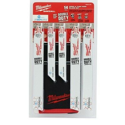 Milwaukee 49-22-1131 14 Pc Reciprocating Saw Demo Thin Kerf Blade Set