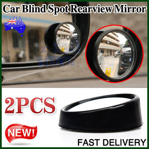 2 Car Rearview Mirror Blind Spot Side Rear View Convex Wide Angle Adjustable NEW