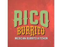 Full and Part Time Kitchen Supervisor for Burrito Kiosk in Camden Market