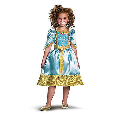 Kostüm~Brave Merida~USA~92-98-104~Disney~Karneval~Fasching~Kleid~Prinzessin~blau