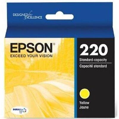 NEW Epson 220 Yellow T220420 Ink Cartridge Genuine
