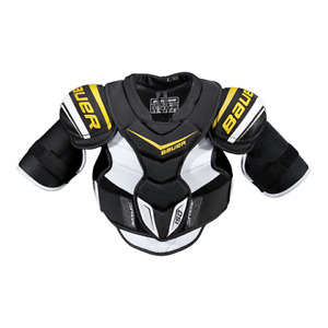 New hockey protective equipment with tags