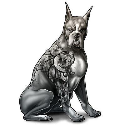 """Dog Ink"" Temporary Tattoo, Mastiff w/ Tattoo Sleeve, Dog, Made in USA"