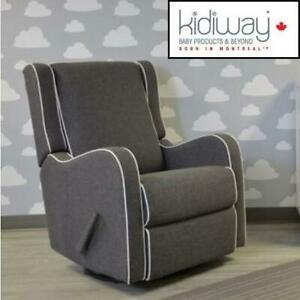 NEW KIDIWAY ALICE GLIDER CHAIR 01881-09 240760915 LIGHT GREY HOME DECOR FURNITURE