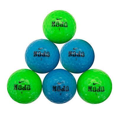 120 Nike Mojo Green/Blue Color Mix Mint Used Golf Balls - Mint Blue Color