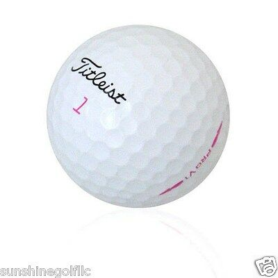 24 Near Mint Titleist Pro V1 Pink Lady Limited Edition Used Golf Balls