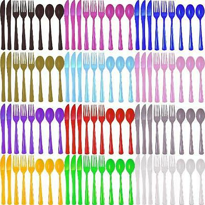 Plastic Forks Spoons Knives 50/150ct party Catering Picnic Disposable NEW! - Picnic Party Supplies