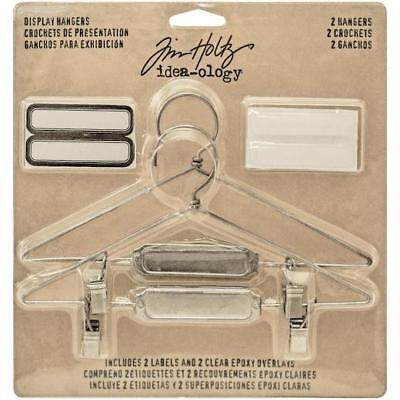 "Tim Holtz Idea-ology Display Hangers 5.75""x3"" 2pcs - Nickel TH93271"