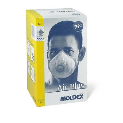 5x Moldex 3305 FFP2 R D Wiederverwendbare Atemschutzmaske Mundschutz Partikel