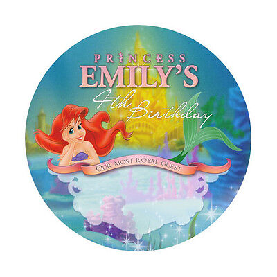 The Little Mermaid Party Favors (12 The Little Mermaid Ariel Birthday Party Favors Personalized Name Tag)