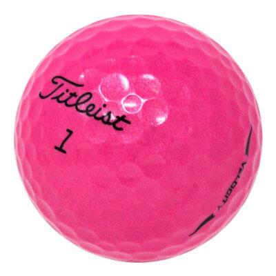 120 Titleist Velocity Pink Mint Used Golf Balls AAAAA ](Golf Balls Pink)