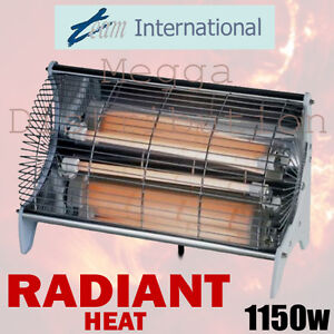 TEAM 2BF Classic Electric Silent 2 Bar Radiant Portable Heater 1150w