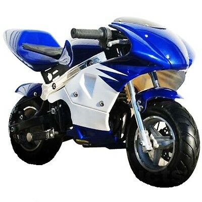 High Performance Honda clone 4 Stroke 40cc Blue/White Pocket