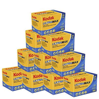 10 Rolls Kodak UltraMax Gold 400 135-24 Color Negative Print Film FRESH DATED