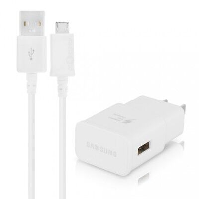 OEM Samsung Adaptive Fast Charger 2A EP-TA20JWE + Micro USB Cable Genuine