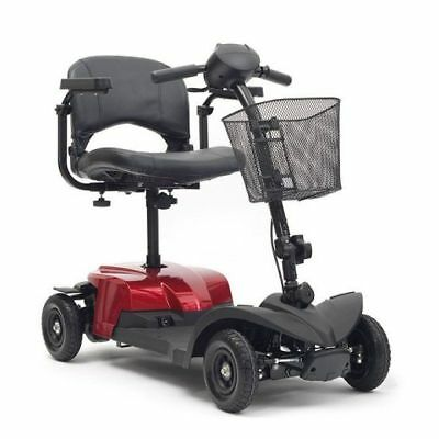 Livewell Jaunt Lite Mobility Scooter Car Boot Shoprider 4 Wheels 4mph Red