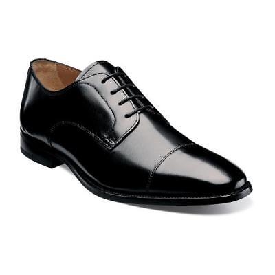 Florsheim Sabato Oxford Cap Toe Classic lace Mens Shoes Black Leather 12123-001  Lace Oxford Cap