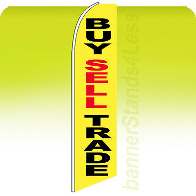 Buy Sell Trade Swooper Flag Feather Flutter Banner Sign 11.5 - Yb