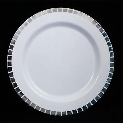 40 Slit Design Dinner /Wedding Disposable Plastic Plates, silver/gold- FREE SHIP (Wedding Disposable)