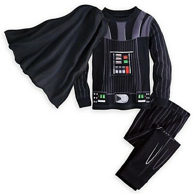 NWT Disney Store Star Wars Cape Darth Vader Costume PJ Pals Deluxe Sleep Set -