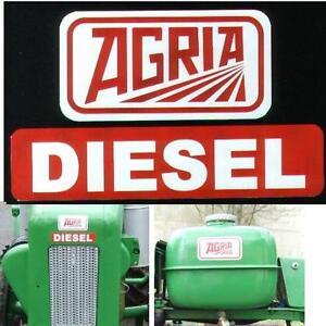 1 Satz Agria Aufkleber Traktor 4800 4 teilig Einachser + Schaltschema Aufkleber
