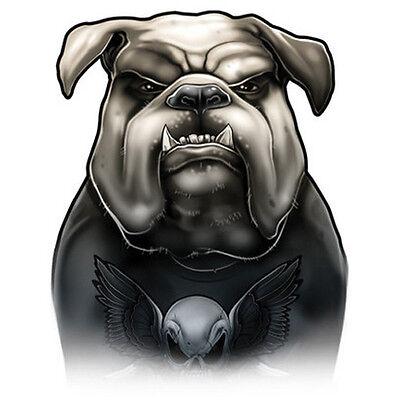 """""""Dog Ink"""" Temporary Tattoo, English Bulldog in T-Shirt, Dog, Made in USA"""