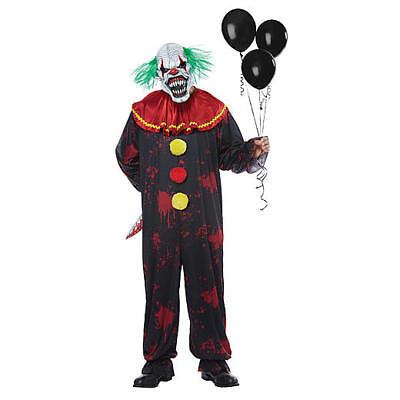 Menacing Clown Child Halloween Costume, Menacing Clown Unisex - Child Clown Costumes