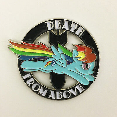 DEATH FROM ABOVE enamel lapel pin  Rainbow Dash MLP my little pony  Brony