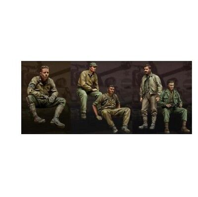 1/35 Scale WWII US Tank Crew 5 Figures Resin Kit DIY Toys Unpainted Figure Kits
