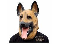 German Sherpherd Dog Latex Mask