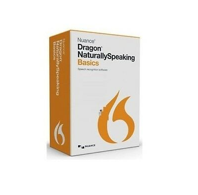 NUANCE Dragon Naturally Speaking 13 Basics w/ Headset & Mic - Voice Recognition™ Microphone Voice Recognition Software