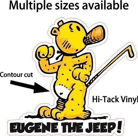 Eugene the Jeep decal window sticker Popeye