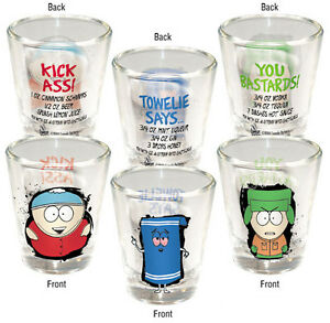 SOUTH PARK  3 Piece SHOTGLASS SET Cartman Towlie Kyle