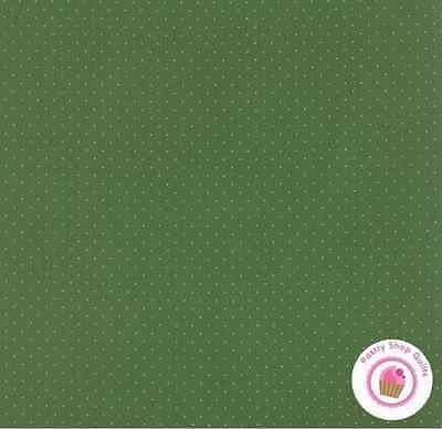 Moda Ala Carte Pindot Green 21098 104 American J Fabric Quilt 30S Reproduction