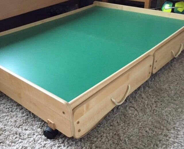 Great Little Trading Company Under Bed Play Table With Storage - Under pool table storage