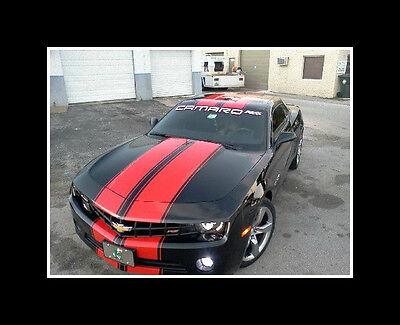 "2010 11 12 13 14 15 16 CAMARO 11"" TWIN Rally Stripe Set Stripes Decals Graphics"