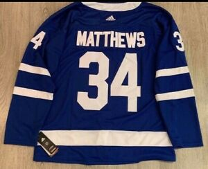 Auston Matthews New Blue Leaf Jersey with tags