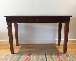 Antique Original Indian Teak Side Table Caulfield North Glen Eira Area Preview